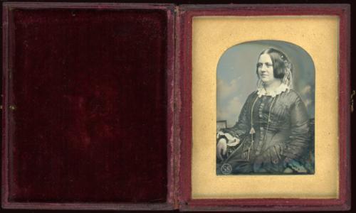 Tinted Lady Daguerreotype By Kilburn