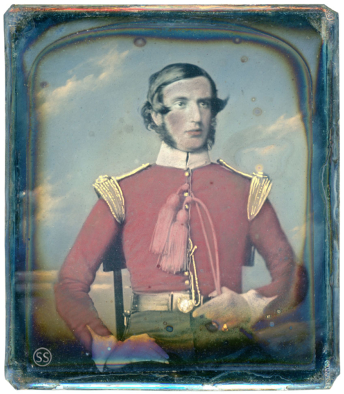 Tinted Military Daguerreotype For Sale