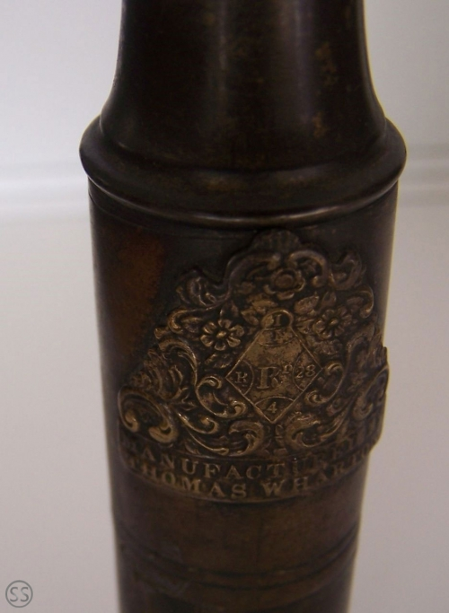 Thomas Wharton Patented Brass Taper & Matchbox